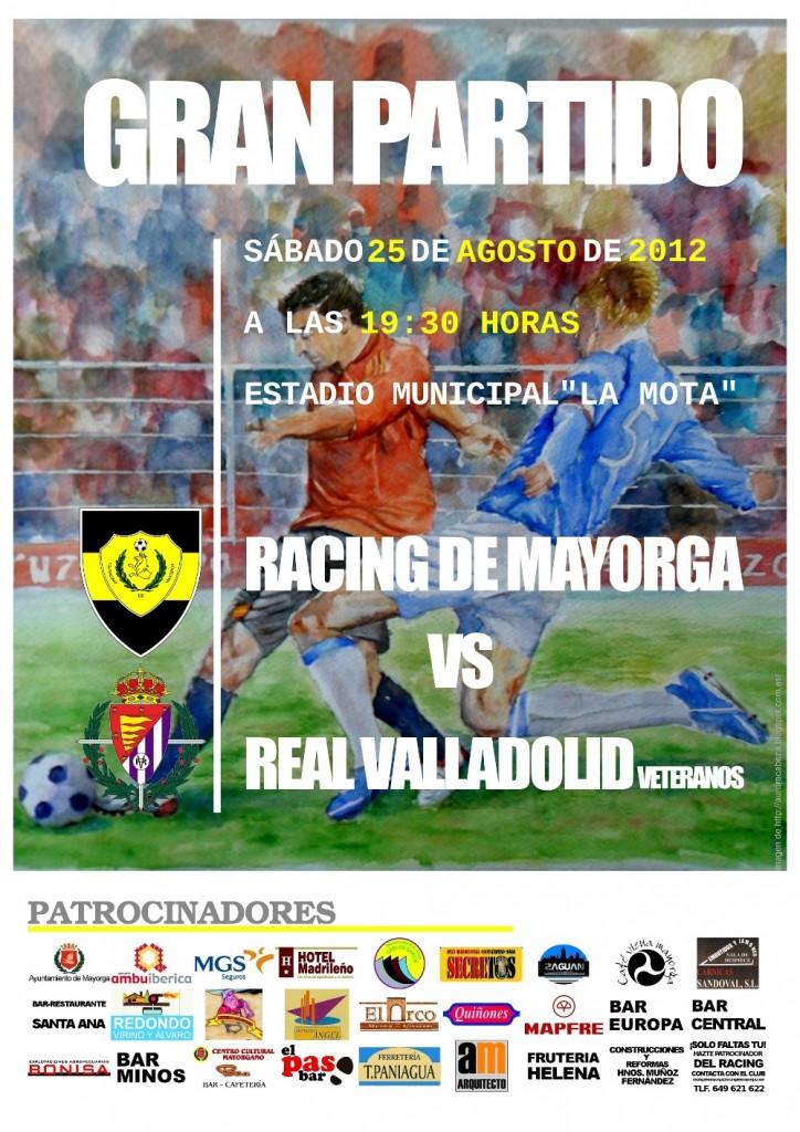 Cartel partido Racing de Mayorga contra Real Valladolid