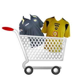 Carro de la compra con camisetas del Racing de Mayorga
