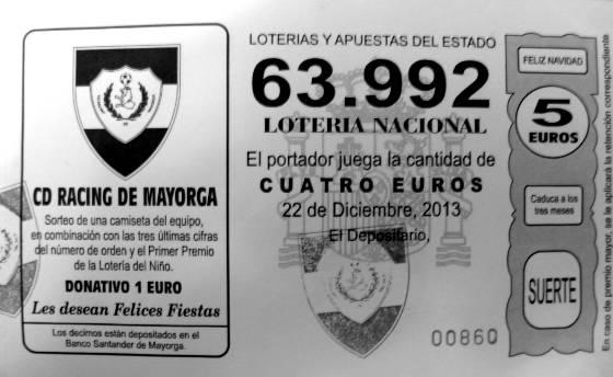 Décimo lotería Racing 2013