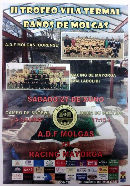Cartel ADF Molgas Vs Racing Mayorga 2015