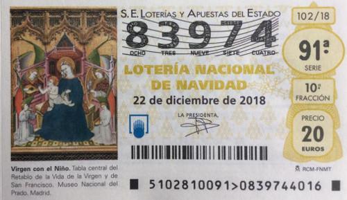 Décimo de loteria del Racing de Mayorga 2018