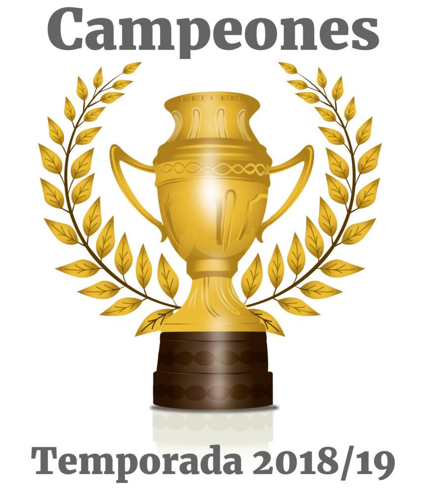 Trofeo campeon Temporada 2018 2019